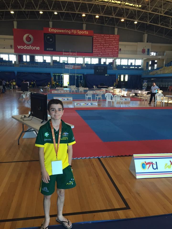 Taekwondo champion Sam Evans